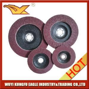 5′′ Aluminium Oxide Flap Abrasive Discs Fibre Glass Cover 26*16mm 40# pictures & photos