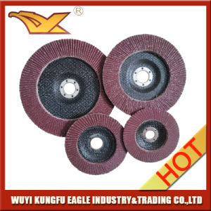 5′′ Aluminium Oxide Flap Abrasive Discs Fibre Glass Cover 27*14mm 40# pictures & photos