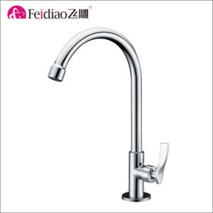 Hot Sale High Quality Brass Chromed Plated Cold Water Kitchen Sink Tap