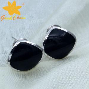 Stse-16113004 Franc Process Black Gemstone Fashion Sterling Silver Rings Cheap