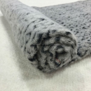Leopard Print Jacquard Wool Fabric in Ready pictures & photos