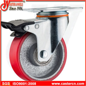 5 Inch Medium Duty Swivel Cast Iron PU Casters pictures & photos