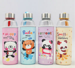 Portable Cartoon Glass Cup 520ml pictures & photos