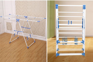 3.15kg Cheap SKD Packing K-Type New PP Plastic Powder Coated Tube Baby Clothes Dryer Rack Jp-Cr109PS pictures & photos