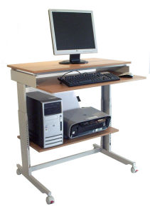 Twinco Clik Ergonomic Stand up Desk Coputer Workstation Beech pictures & photos