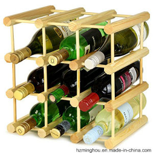 Factory Outline Wine Display Stand with Natural Wood Colorful Sticks pictures & photos