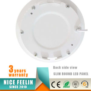 China Factory Recessed Slim Round 6W LED Panel Light with Ce RoHS Approved pictures & photos