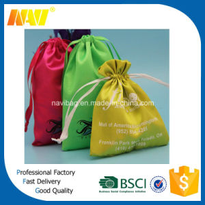 Fashion Cheap Gift Satin Drawstring Bag pictures & photos