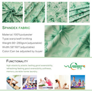 Polyester Spandex Fabric Textile Knitting Fabric for Sports T Shirt pictures & photos