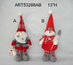 "11""H Standing Christmas Decoration Santa and Snowman, 2 Asst pictures & photos"