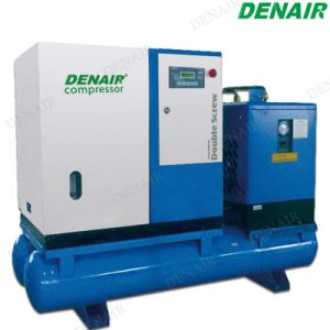 Small Compact Mounted Screw Compressor with Air Receiver and Dryer pictures & photos