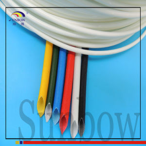 Sunbow 6mm Silicone Fiberglass Sleeving Black pictures & photos
