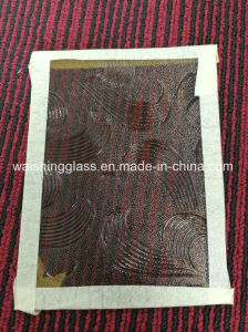 3-5mm May Flower Pattern Glass Bronze Figure Glass for Decorative pictures & photos