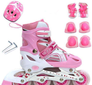 Kids LED /Light Flash Roller Skate Shoes pictures & photos