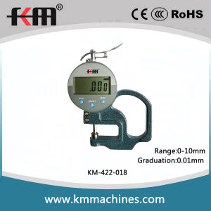 0-10mm Digital Thickness Gages with 0.01mm Graduation and 30mm Throat Depth pictures & photos