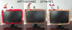 Christmas Screen Cover Home Decoration, 3asst. -Christmas Decoration pictures & photos