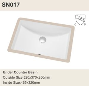 Cupc High Quality Ceramic Washing Under Mount Bowl (SN017) pictures & photos