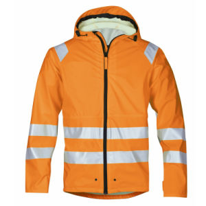 waterproof Orange Winter High Visibility Reflective Safety Jacket pictures & photos