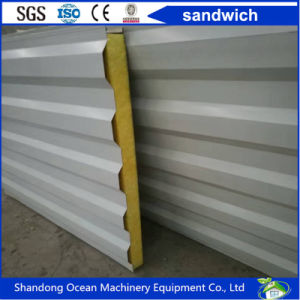 Sandwich Container House Wall Panel of Rock Wool/Glass Wool/EPS/PU for Prefabricated Steel Container House pictures & photos