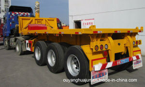 8.5 Meters Flatbed Rear Self-Dump Semitrailer pictures & photos