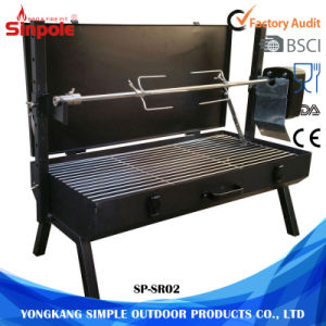 Mini Spit Roaster Charcoal BBQ Chicken Rotisserie Grill for Sale pictures & photos