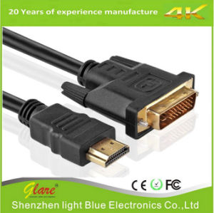 Gold Plug HDMI to DVI D Cable Support 1080P pictures & photos