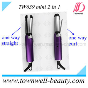 Mini 2 in 1 Hair Straightener Hair Curler pictures & photos