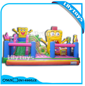 Lilytoys PVC Tarpaulin Giant Simpson Theme Jumping Castle with Slide (Lilytoys-New-026) pictures & photos