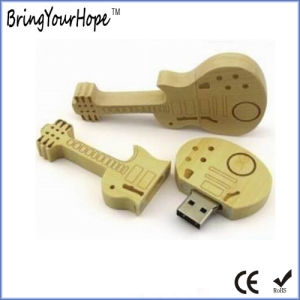 Eco-Friendly Bamboo Wooden Guitar Shape USB Flash Stick (XH-USB-164) pictures & photos