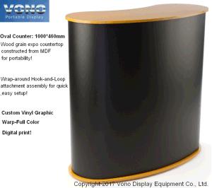 Exhibition Pop up Counter Tradeshow Display Counter Portable Counter