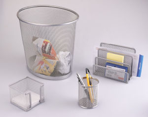 Office Sets for The Desk/ Metal Mesh Stationery Office Set/ Office Desk Accessories pictures & photos
