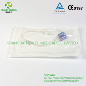 Double Needle Free Connector Extension Tube in Poly-Bag Sterilized pictures & photos