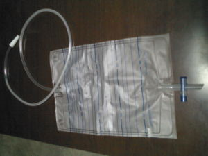 Disposable 2000ml Urine Drainage Bag with Push-Pull Valve pictures & photos
