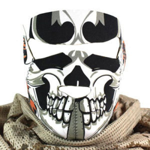 Motorcycle Racing Veil Full Face Grimace Mask (AM032) pictures & photos
