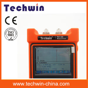 Techwin High Precision Handheld Optic OTDR Machine Tw2100e Fiber OTDR Portable Optical OTDR Meterwith Touch Screen pictures & photos