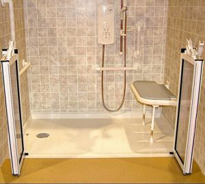 Ada Handicap Roll in Handicapped Accessible Shower Base pictures & photos