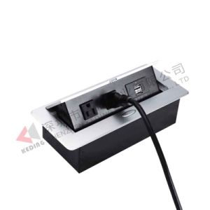 Office Table Top Media Hub Outlets Socket Pop-up USB Charger pictures & photos