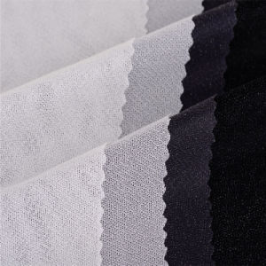 100 Polyester Fusible Tricot Warp Knitted Woven Interlining pictures & photos