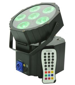 12W Rgbwauv 6 LED PAR Light Indoor Strobe Stage Lighting DMX512 DJ Party pictures & photos