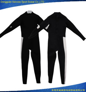 Men 3mm Neoprene Fitness Black Snorkeling Swimming Wetsuit pictures & photos