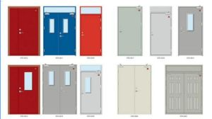 UL Listed Fire Door with Wooden Leaf or Steel Leaf with Vision Panel and Panic Lock