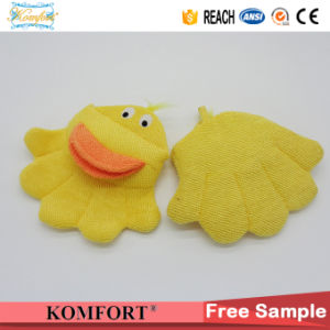Promotion Bath Cleaning Scrubber Glove Baby Animal Duck Hand Puppet (KLB-115) pictures & photos