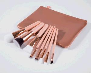 8PCS High-End Facial Makeup Brush Set with PVC Leather Bag pictures & photos