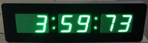 "7 ""Segment"" Emitting Green Light Wall Digital LED Clock pictures & photos"