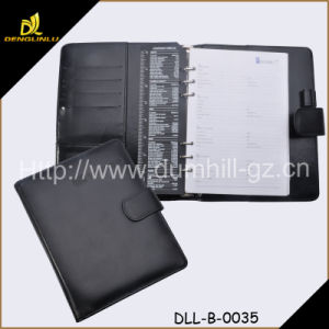 A5 Business Leather Holder File Folder with Pen pictures & photos