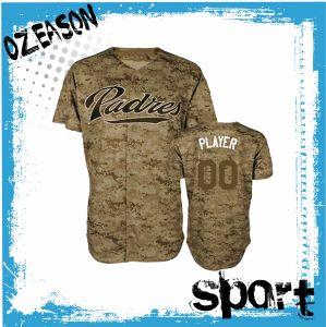 China Supplier Custom Cheap Digital Print Camo Baseball Jersey (B018) pictures & photos