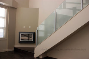 Frost Glass Balustrade / Handrail for Apartment Concrete Stairs pictures & photos