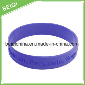 Debossed Cheap Silicone Wristbands No Minimum pictures & photos