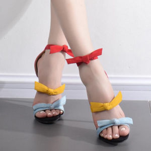 Fancy Girls Candy Colors High Heel Sandals (HT-S1008) pictures & photos