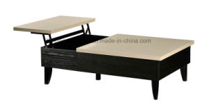 Modern Wooden Black+High Gloss Khaki Coffee Table (I&D-5048-1.2) pictures & photos